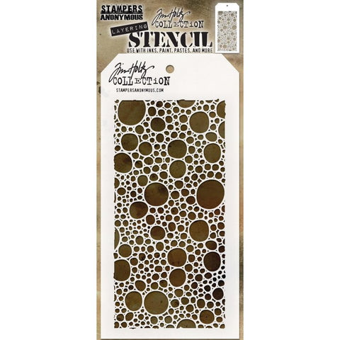 Bubbles ... layering stencil by Tim Holtz (THS138)