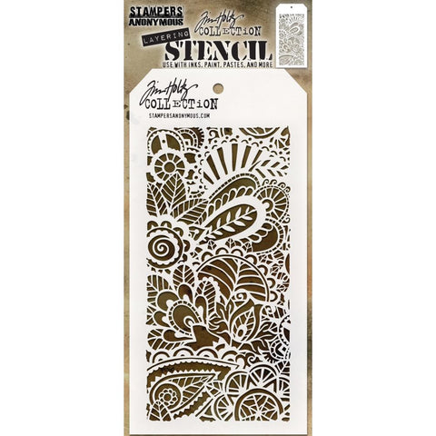 Doodle Art 1 - Tim Holtz Layering Art Stencil for Mixed Media