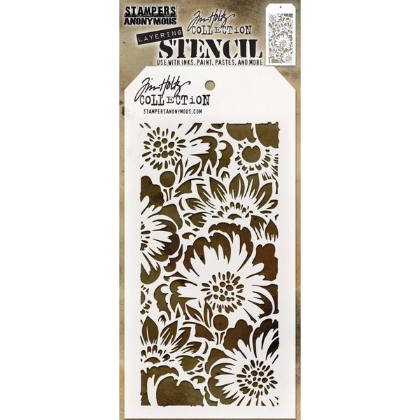 Bouquet  - Tim Holtz Layering Art Stencil for Mixed Media