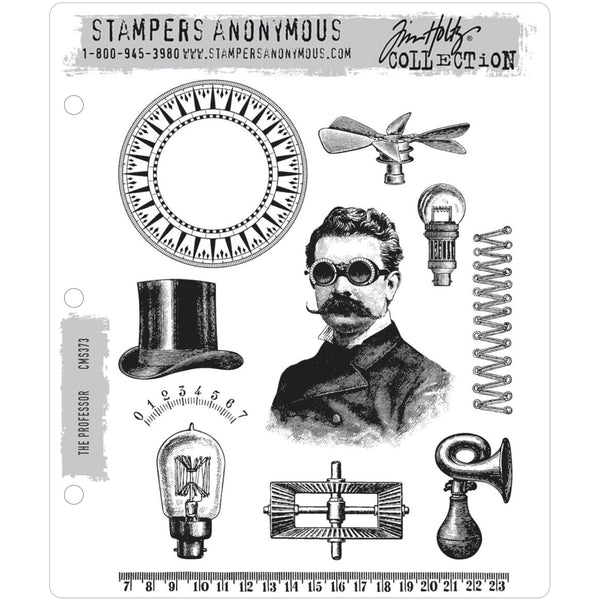 Tim Holtz Cling Stamps - The Professor cms373