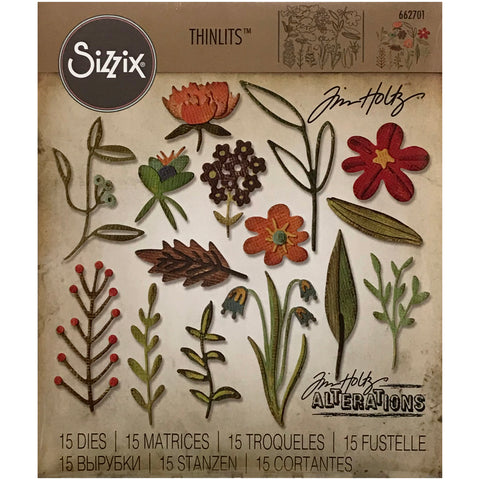 Funky Florals (set no.2) by Tim Holtz Alterations