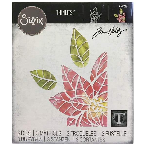 Tim Holtz Thinlits Dies by Sizzix - Poinsettia Pieces