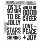 Tim Holtz Cling Rubber Stamps for Christmas 2020, Bold Tidings