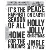 Tim Holtz Cling Stamps - Bold Tidings set 3 - NEW!