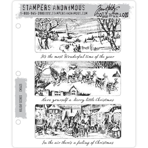 Tim Holtz Holiday Scenes Vintage Artwork as a Stamp