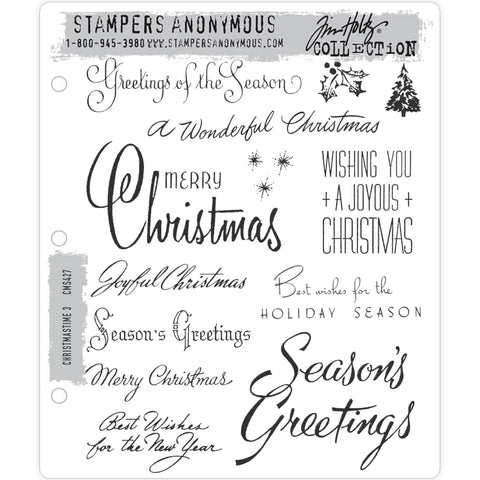 Tim Holtz Cling Stamps - Christmastime 3 - NEW!