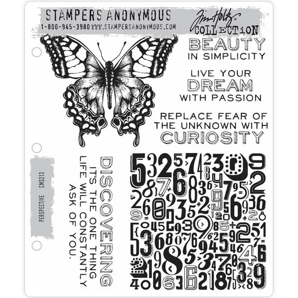 Tim Holtz Cling Stamps - Perspective
