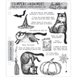 Tim Holtz Cling Stamps - Snarky Cat Halloween