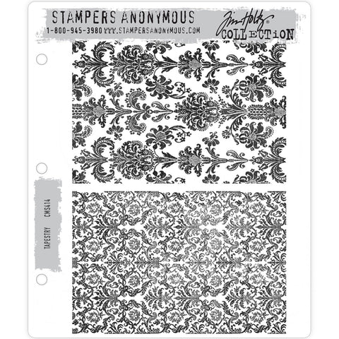 Tim Holtz Cling Stamps - Tapestry