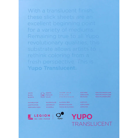 Translucent Yupo, 15 large sheets