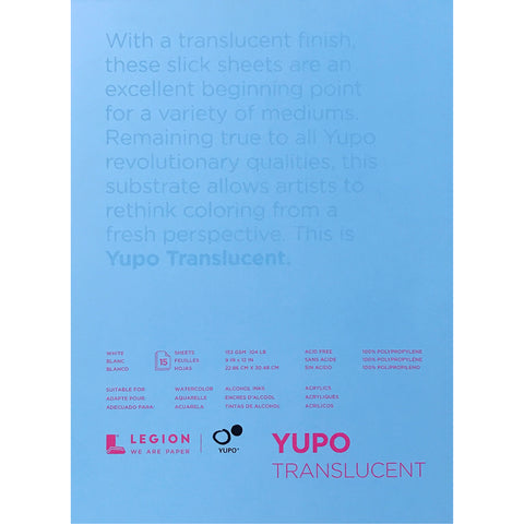 Yupo Translucent Surface for Painting by Legion Paper