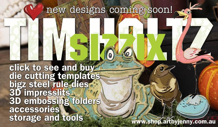 image showing Tim Holtz Idea-Ology Baseboard Paper Dolls embellishments with link to new products at Art by Jenny