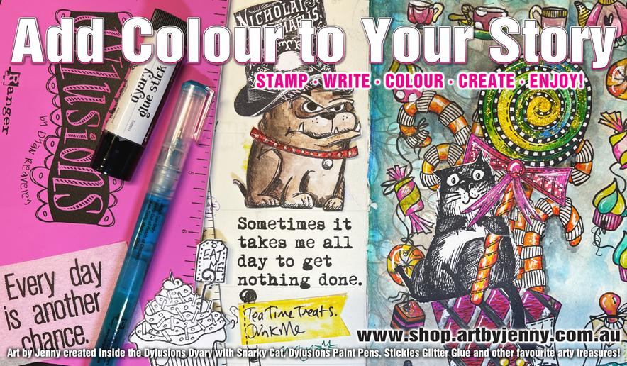 paint your own masterpiece of the Australian Outback using watercolour paints and stamps by Darkroom Door - all at Art by Jenny