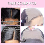 Fake Scalp Wig 13X6 Invisible 180% PrePlucked Short Bob Curly Frontal Closure Lace Front Human Hair Wigs For Black Women Remy