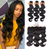 Sapphire Brazilian Hair Weave Bundles Body Wave Bundles With Frontal Human Hair 3 Bundles With Closure Frontal Hair Extension