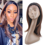 Synthetic Lace Front Wigs With Short Baby Hair X-TRESS Ombre Brown Color Trendy Lace Wig Free Part For Black Women
