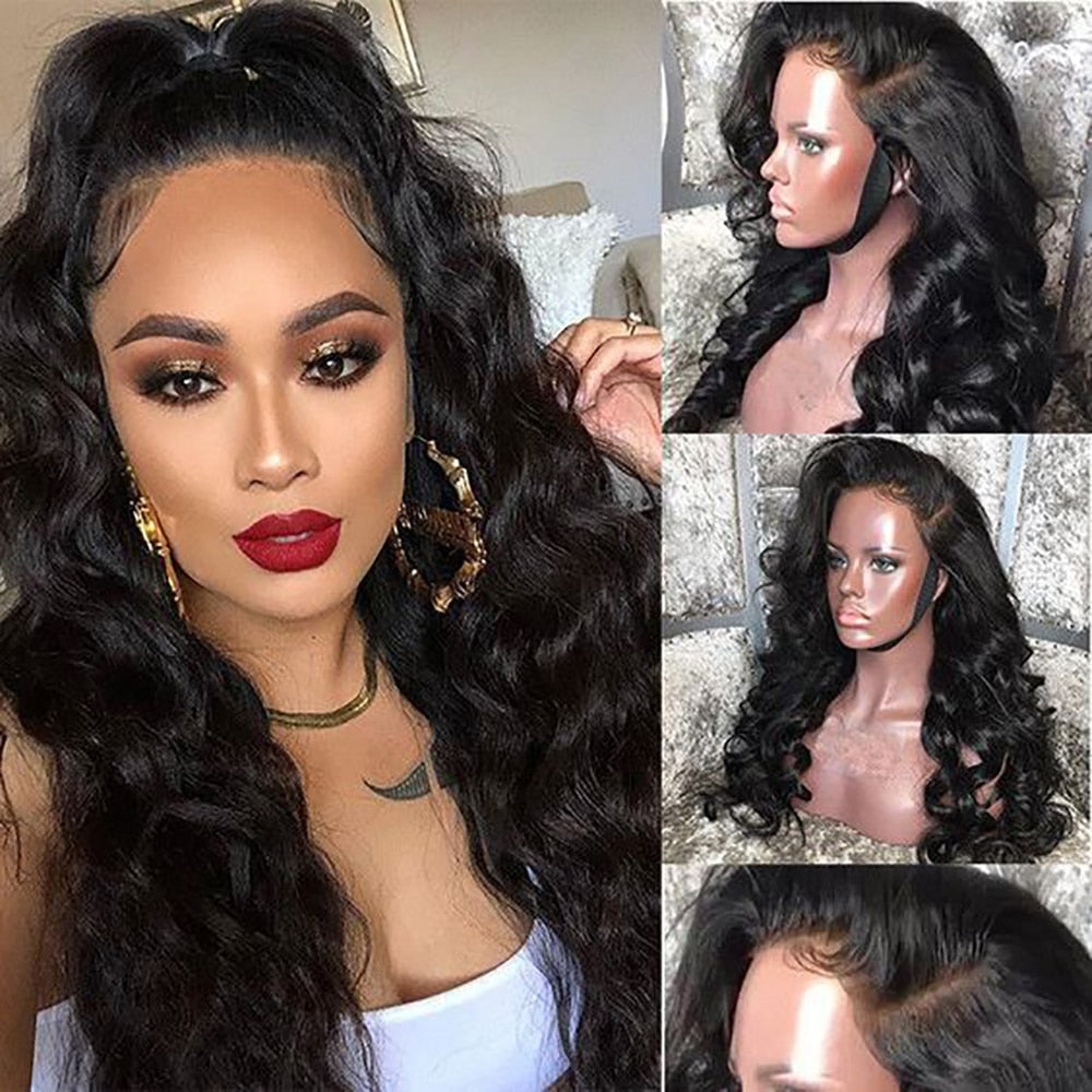 13X4 Body Wave Lace Front Human Hair Wigs For Women Pre Plucked Natural Hairline With Baby Hair Brazilian Body Wave Remy Hair