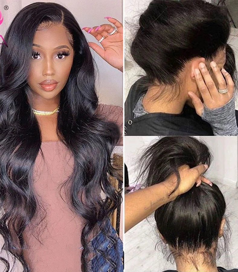 Body Wave 360 Lace Frontal Wig Pre Plucked With Baby Hair Brazilian Lace Front Human Hair Wigs For Black Women Remy Hair Wig