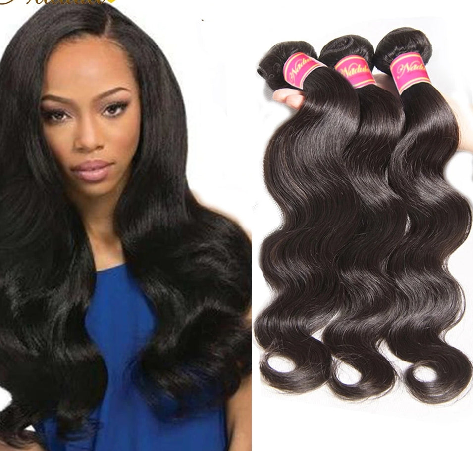 Hair 3 Bundles Brazilian Body Wave Hair Weaving Natural Color Brazilian Hair Weave Bundles 100% Remy Human Hair Body Wave