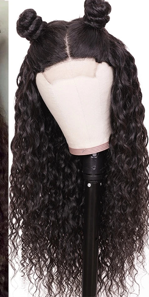 13*4/6 Lace Front Human Hair Wigs Pre Plucked With Baby Hair Brazilian Water Wave Remy Lace Front Wigs 10-24 Inch