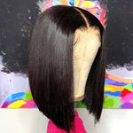 13x6 Short Bob Transparent Brazilian Straight Lace Front Wigs Invisible Lace Front Human Hair Wigs For Black Women