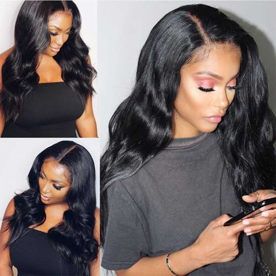 180 200 Brazilian Body Wave Lace Front Human Hair Wigs Transparent Invisible Undetectable 13x4 Lace Front Wig For Black Women