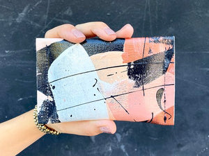 caramel crunch hand painted canvas wallet