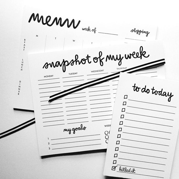 daily to-do list notepad