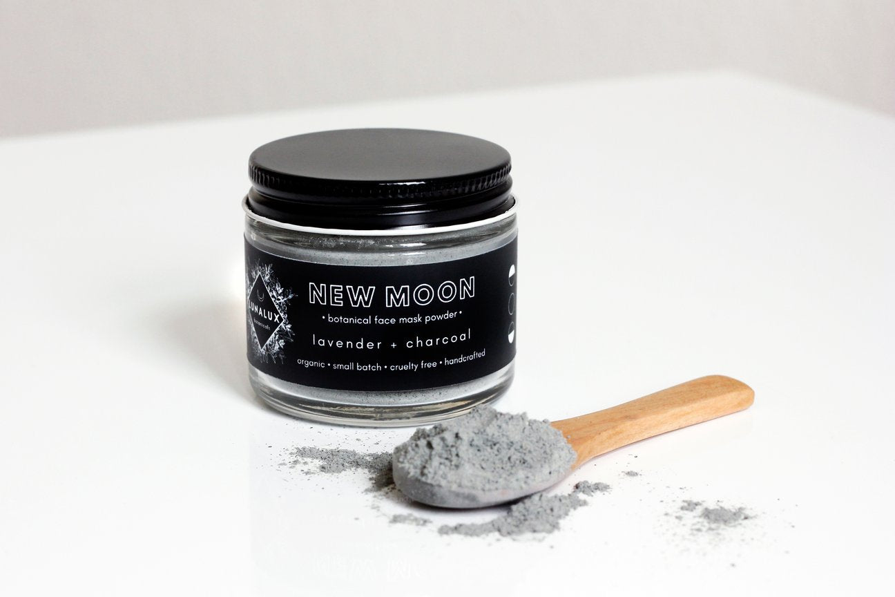 new moon charcoal face mask