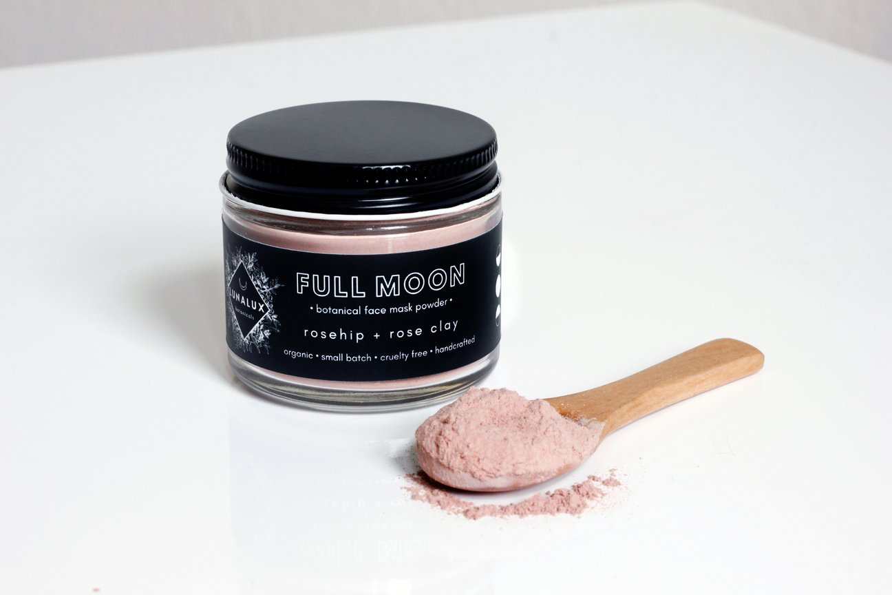 full moon rose botanical face mask