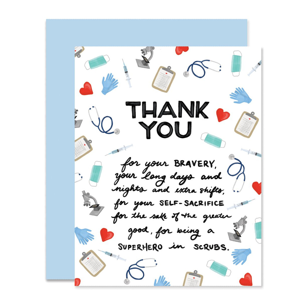 medical personnel thank you card