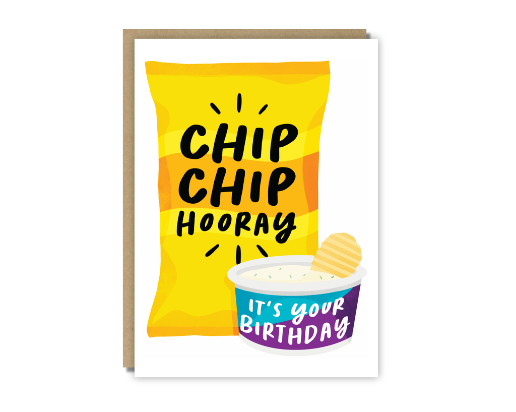 chip chip hooray birthday card