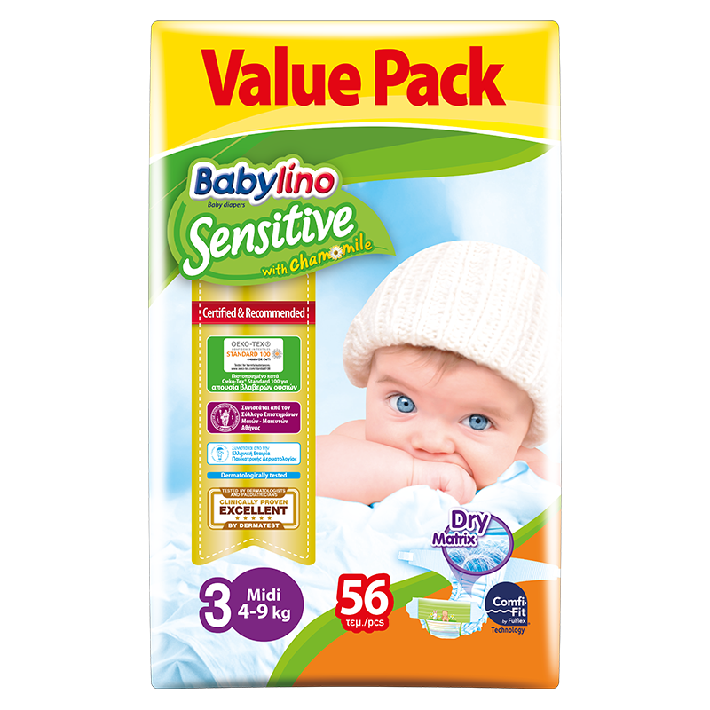 Baby Lino Sensitive Econ 3 x 56 pcs - The online warehouse