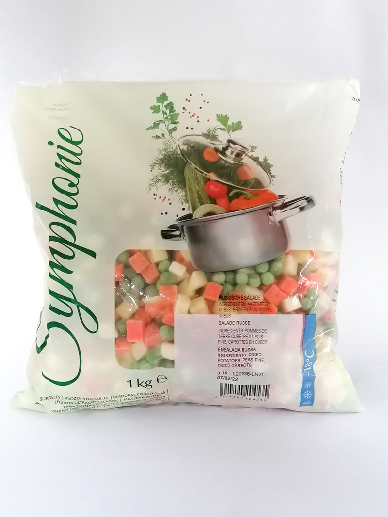 Symphonie - Frozen Russian Salad 1kg - The online warehouse