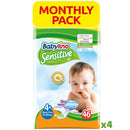 Baby Lino Sensitive Econ 4+ x 46 pcs - The online warehouse