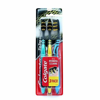 Colgate T/Brush 3 Pack Zig Zag Charcoal Medium - The online warehouse