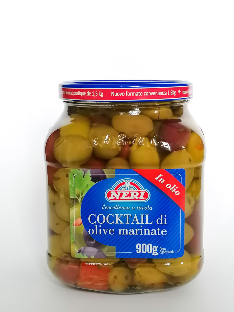 Neri - Cocktail Olives With  Pimentos  1500g  glass - The online warehouse
