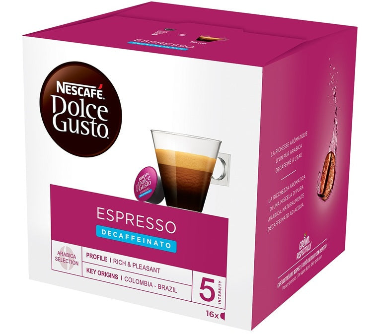 Nescafe Dolce Gusto Decaf Espresso - The online warehouse