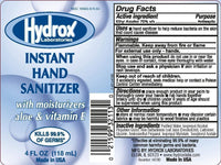 Hydrox Non-Medical Hand Santizer 4oz (60 Pack)