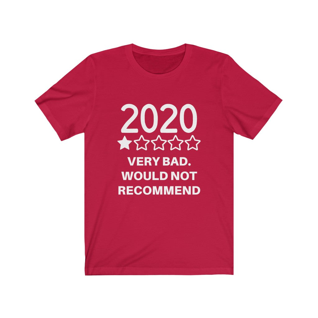 UNISEX 2020 ONE STAR REVIEW FUNNY T-SHIRT - ON CLOUD NINE GIFTS