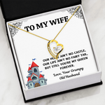 "TO MY WIFE ""CASTLE"" FOREVER LOVE NECKLACE GIFT SET - ON CLOUD NINE GIFTS"