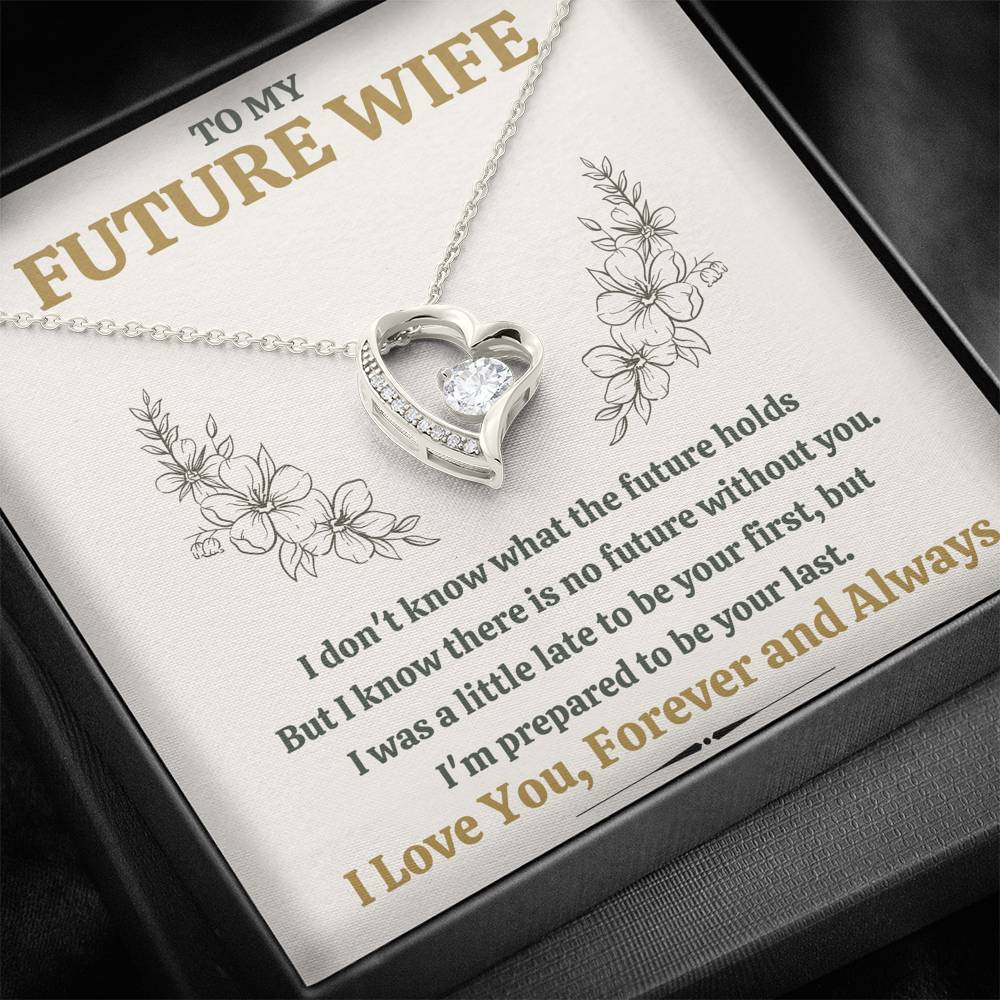 "TO MY FUTURE WIFE ""LATE"" HEART NECKLACE GIFT SET - ON CLOUD NINE GIFTS"