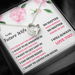 "TO MY FUTURE WIFE ""YOU HAVE GOT EVERYTHING"" HEART NECKLACE GIFT SET - ON CLOUD NINE GIFTS"