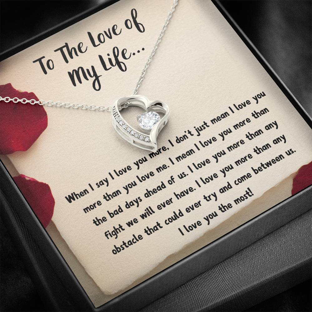 "TO THE LOVE OF MY LIFE ""LOVE NOTE"" HEART NECKLACE GIFT SET - ON CLOUD NINE GIFTS"
