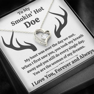 "TO MY SMOKIN' HOT DOE ""DREAMS"" HEART NECKLACE GIFT SET - ON CLOUD NINE GIFTS"