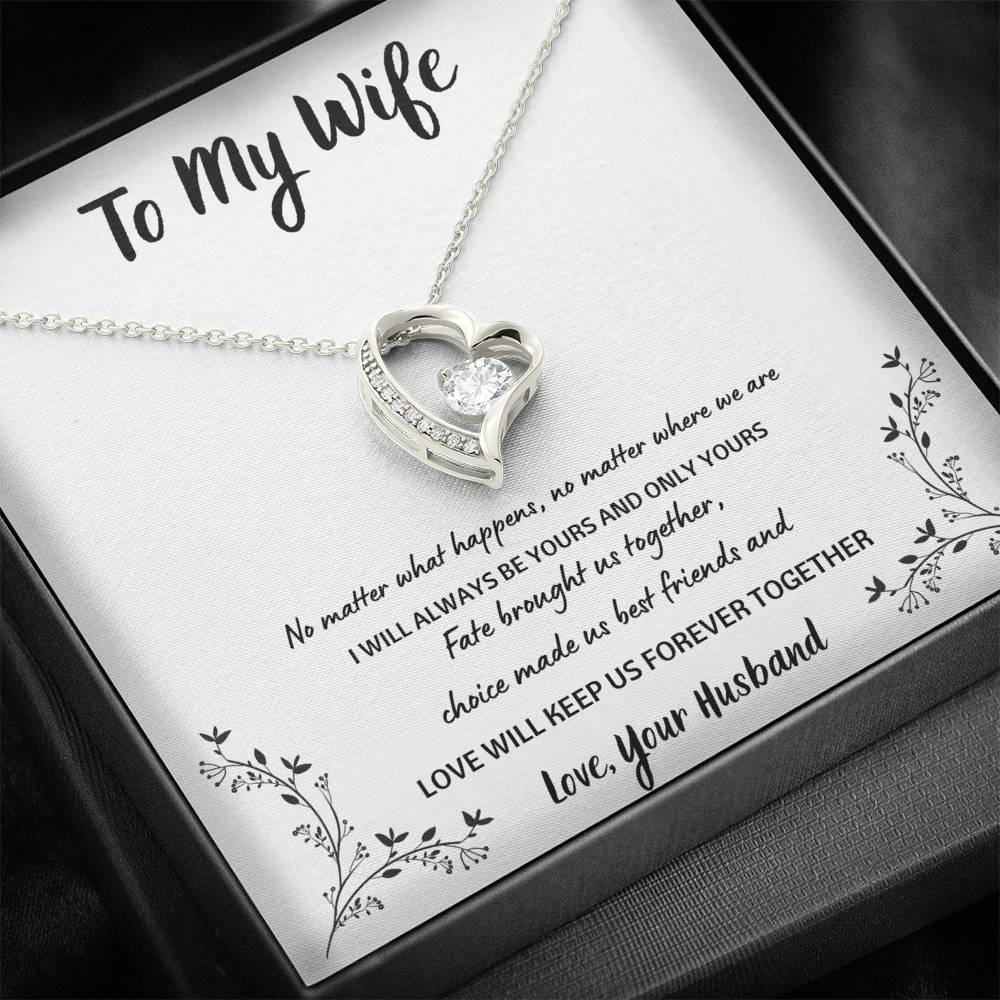 "TO MY WIFE ""FOREVER TOGETHER"" HEART NECKLACE GIFT SET - ON CLOUD NINE GIFTS"