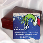 "TO MY SOULMATE ""THREE SIZES HAPPIER"" HEART NECKLACE GIFT SET - ON CLOUD NINE GIFTS"