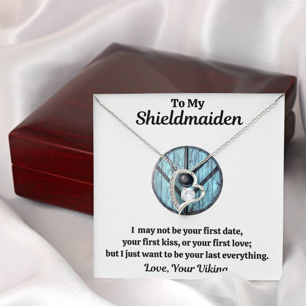 "TO MY SHIELDMAIDEN ""LAST EVERYTHING - BLUE"" HEART NECKLACE GIFT SET - ON CLOUD NINE GIFTS"