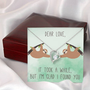"DEAR LOVE ""A WHILE"" HEART NECKLACE GIFT SET - ON CLOUD NINE GIFTS"