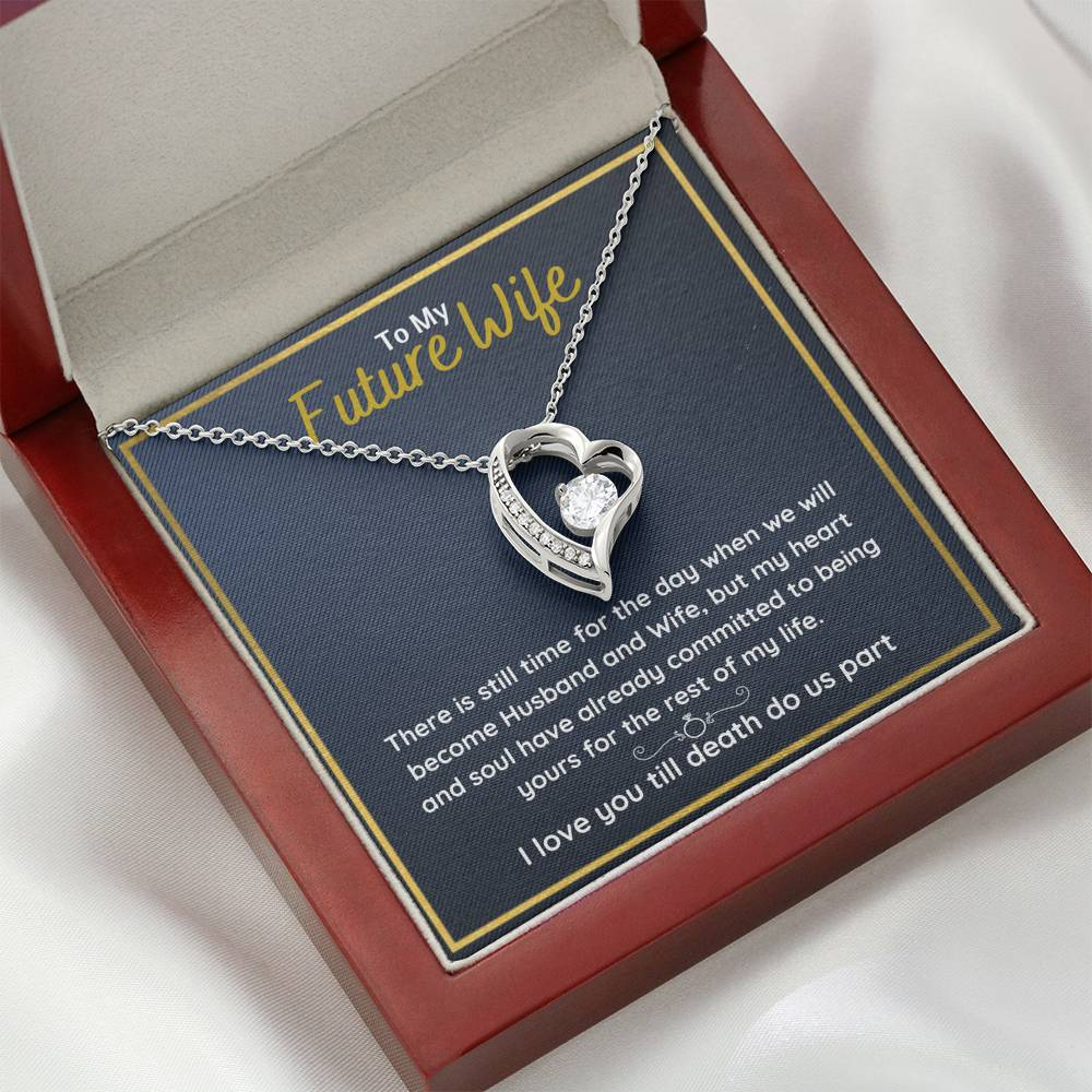 "TO MY FUTURE WIFE ""COMMITTED"" HEART NECKLACE GIFT SET - ON CLOUD NINE GIFTS"
